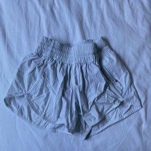 Lululemon white sport shorts